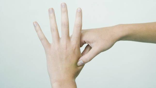 Self Acupunture Treatment For Hand.
