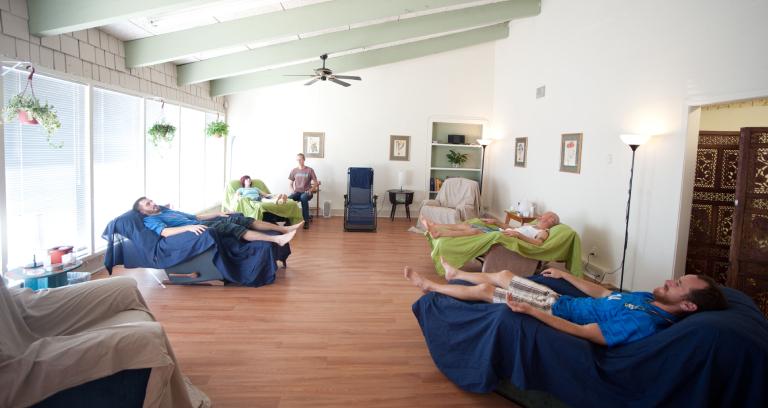 Multiple Patients Taking Acupunture Treatment.