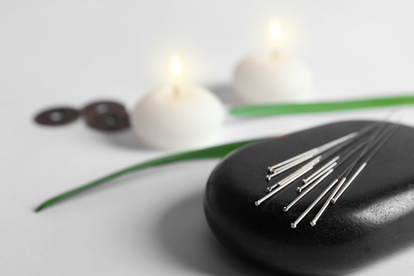 Modern Acupunture Accessories Placed On A table.